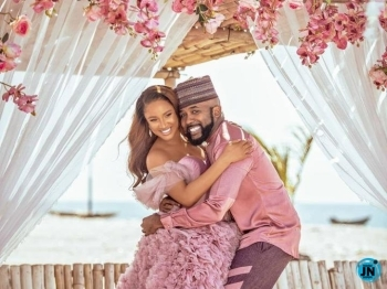Banky W & Adesua Etomi Welcome Son Together (Photos)